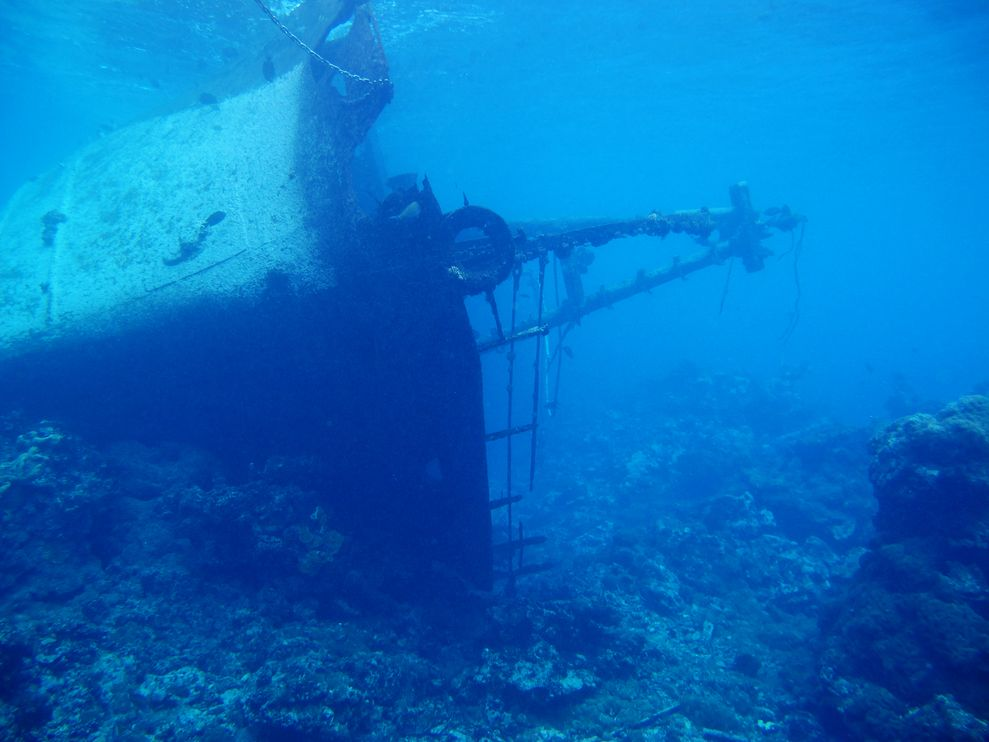 The F/V Hui Feng No. 1 was grounded on the reef at the Palmyra Atoll National Wildlife Refuge.