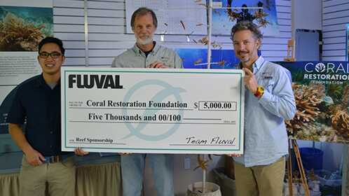 Fluval's $5,000 donation to the CRF