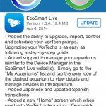 EcoSmart Live App Gets Full Fledged VorTech Control