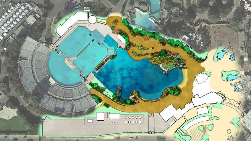 Top view of the proposed Blue World Project