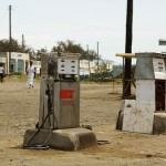Mbita, Kenya - gas station where they fixed the land rover.