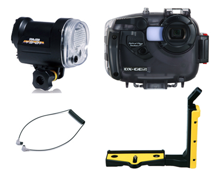 Manufacturers like Sea and Sea offer complete kits of camera, housing and bracket and these represent very good value for money. Photo by Sea and Sea.