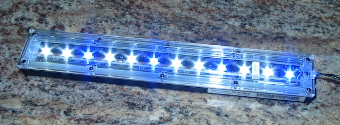 The Panorama LED module from Ecoxotic is easy to use as a stand alone or accent light for marine and reef aquarium tanks.