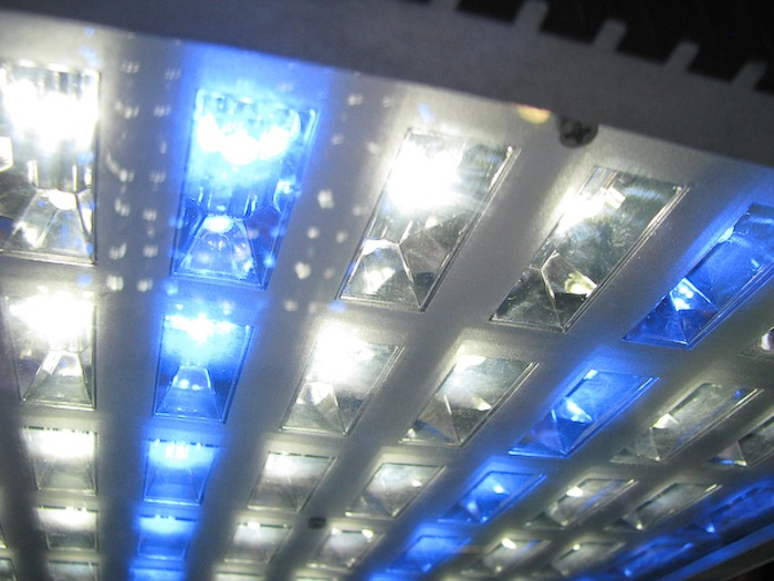 The individual reflectors of this AquaMedic LED light are extremely efficient at directing the light of each LED.