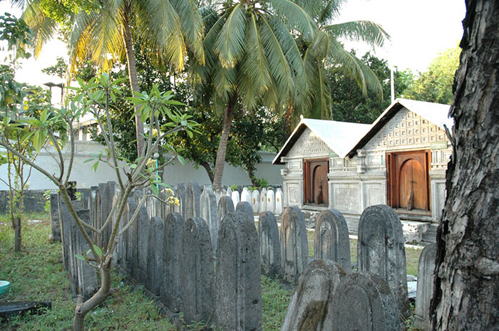 I thought I'd include this shot of a temple in Male, the Maldivian capital - the building and the gravestones are all carved from ancient coral.