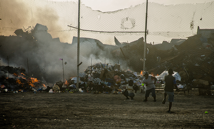 Softball field next to the trash dump on Ebeye.