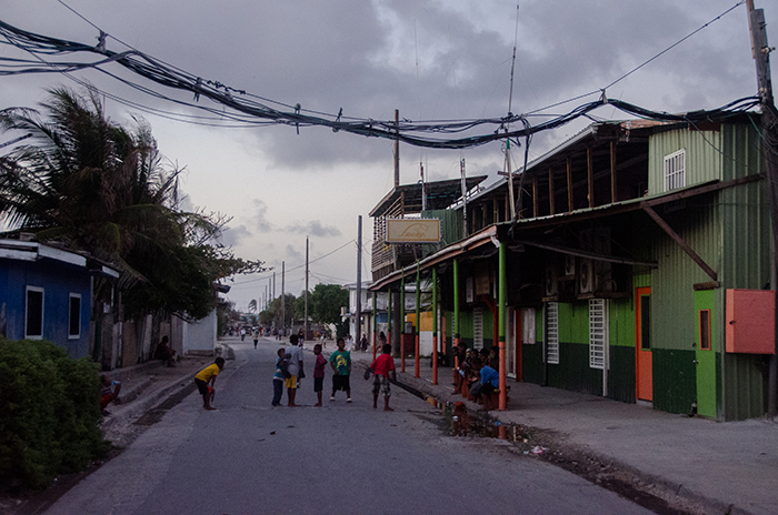 A general view of life in Ebeye; kids all over the streets at all times of the day and night.