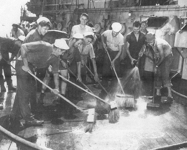 Scrubbing radiation from the Prinz Eugen.