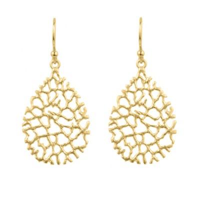 jewelry gold coral reef earrings - reefs