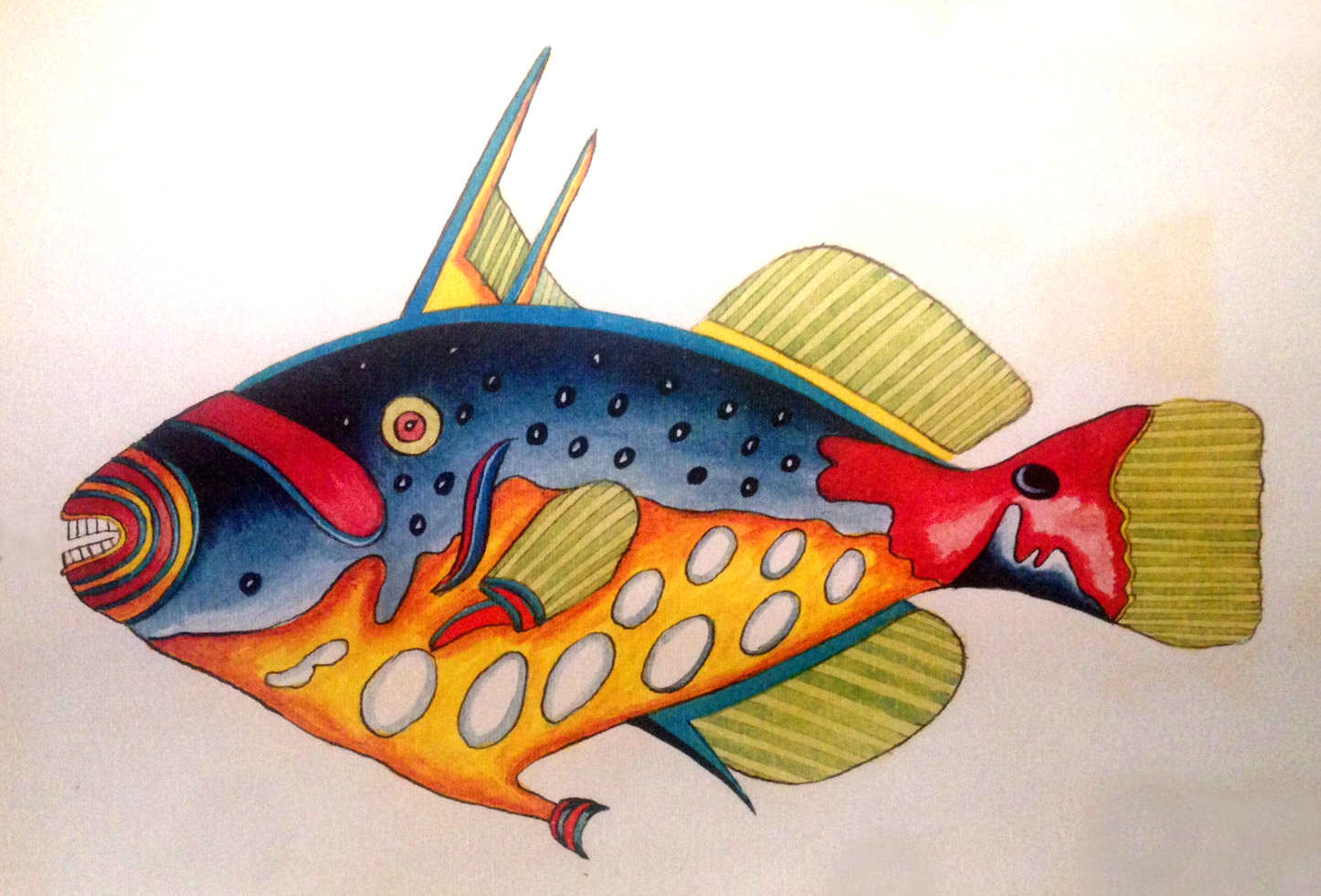 The Clown Triggerfish lends itself well to Fallours' aesthetic.
