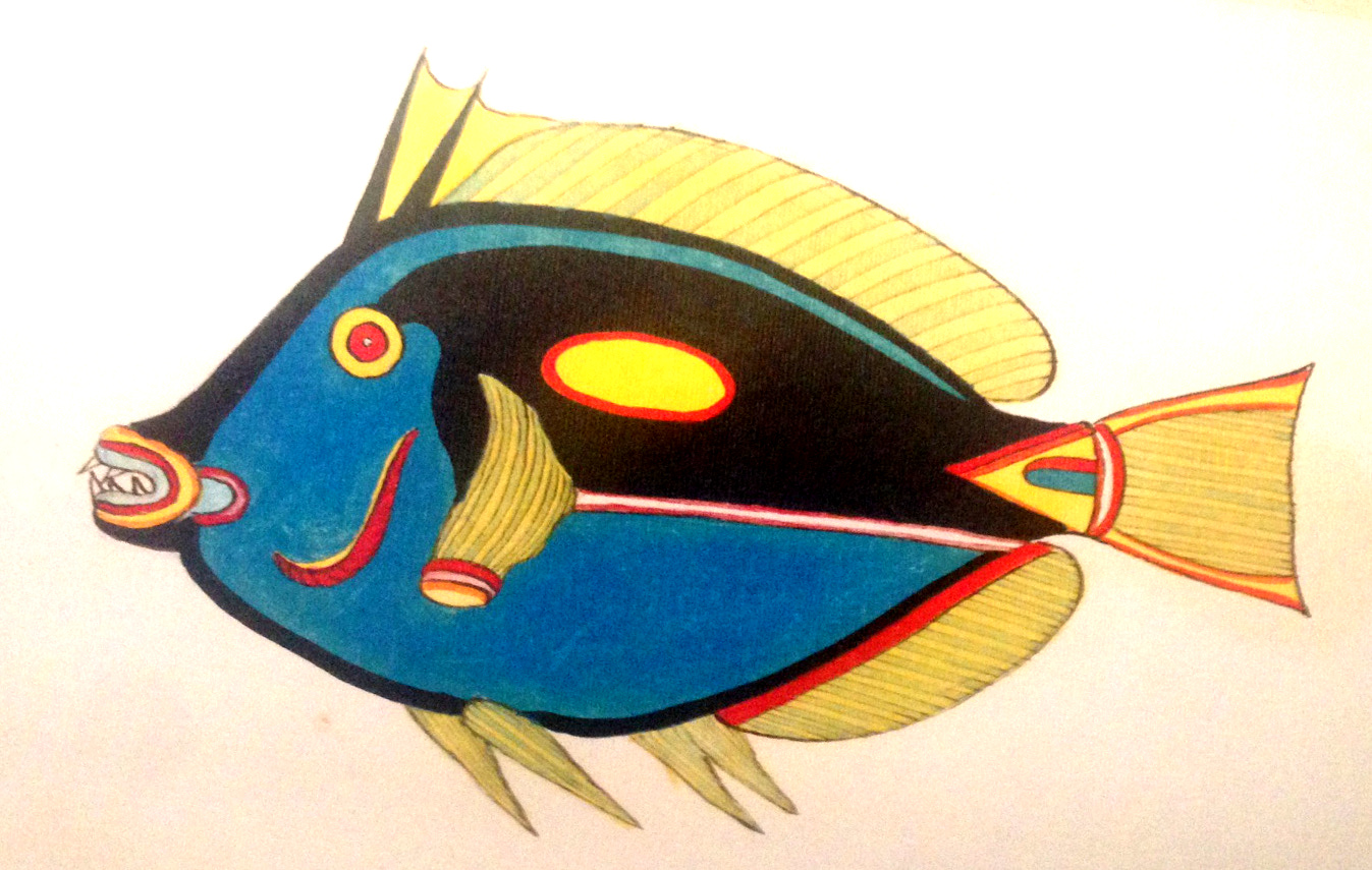 The Pacific Blue Tang, one of Fallours' more accurate depictions.