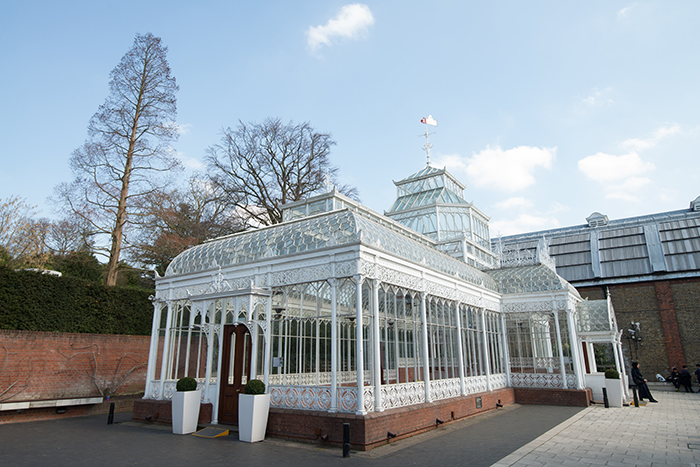 A recently renovated glass house in the grounds. Photo by Richard Aspinall.