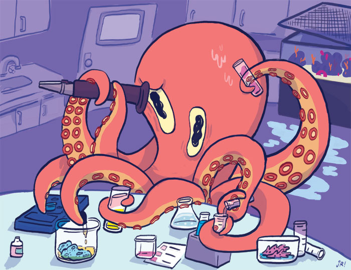 Performing experiments doesn't have to cost you an arm and a leg - or eight. Illustration by J.R. Zuckerberg.