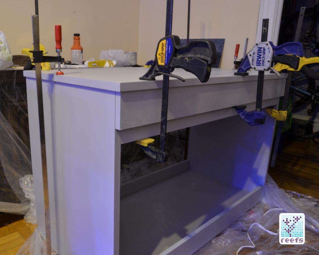 A DIY stand built