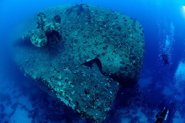 The tragic Salem Express sank in DEccember 1991, with a huge loss of life. She is slowly becmoing encrusted in coral