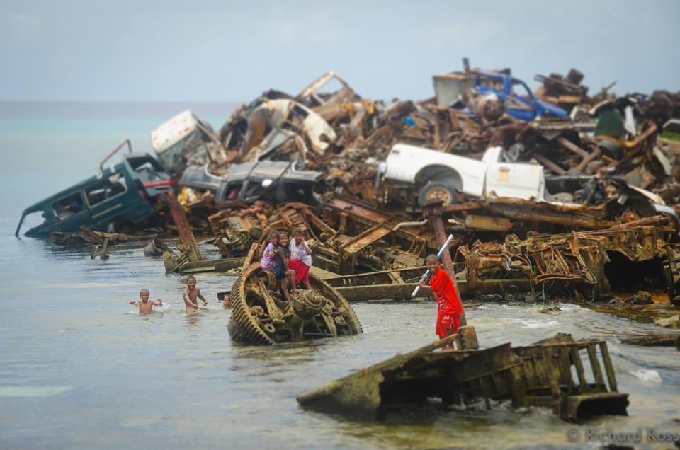 Garbage dump, Ebeye, Kwajalein Atoll. Photo permission courtesy of Richard Ross.