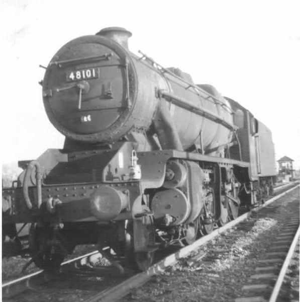 A LMS Stanier 8F steam locomotive.