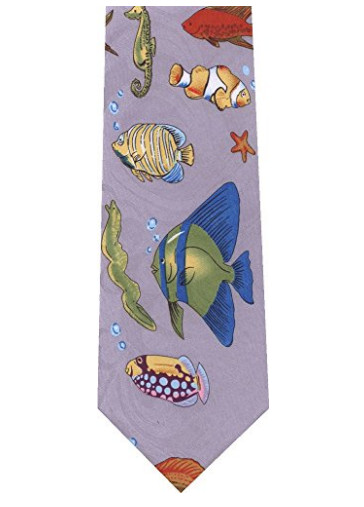 This one has several aquarium favorites. Clownfish. Clown Triggerfish. Regal Angelfish. Available at Amazon for $9.95.