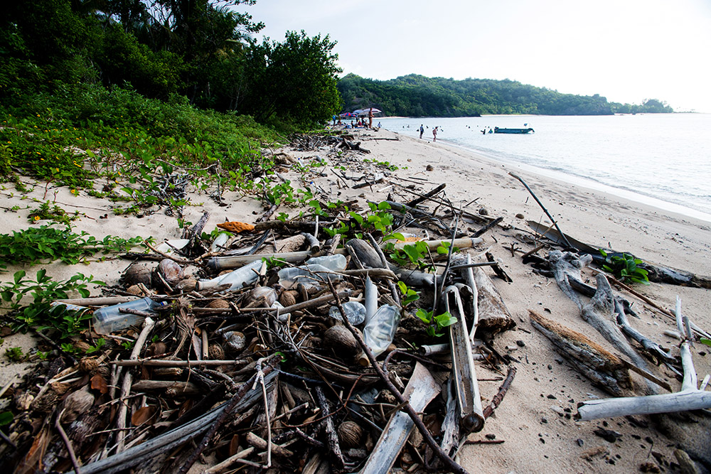 plastic, beach