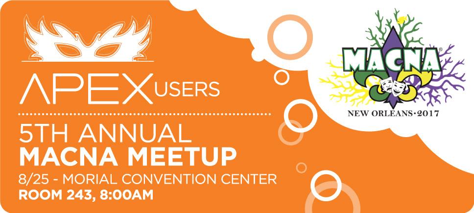 Apex Users 5th Annual Macna Meetup Reefs Com