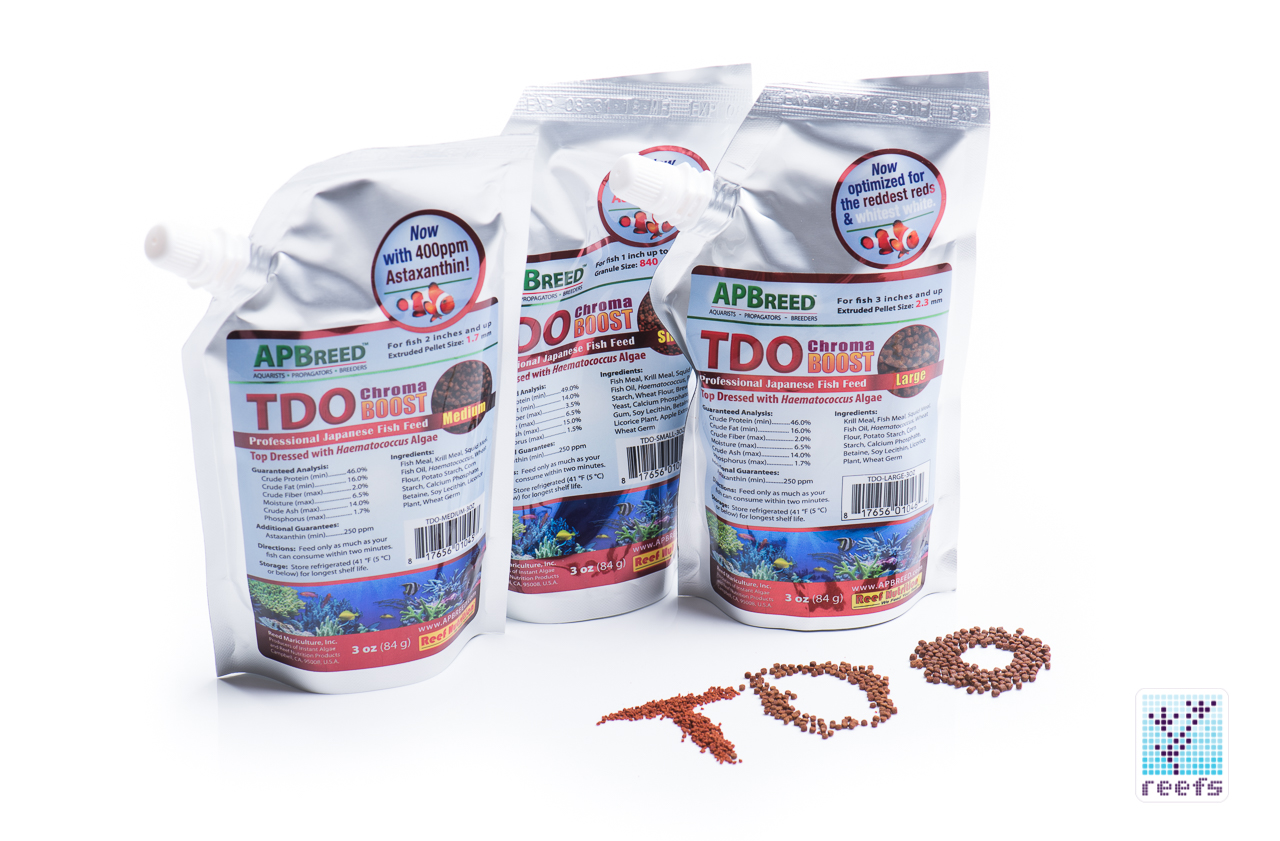 New product reef nutrition apbreed tdo chroma boost fish for Saltwater fish food