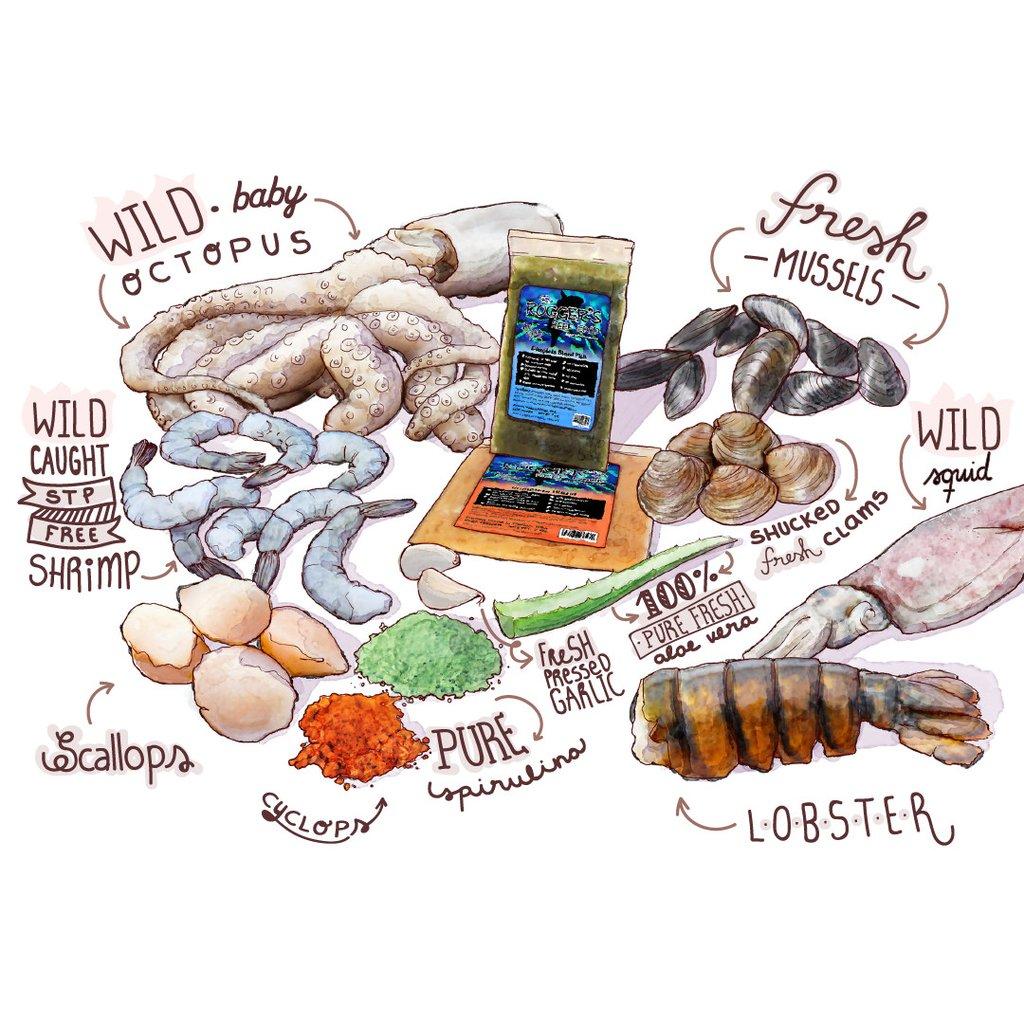 rogger's reef food