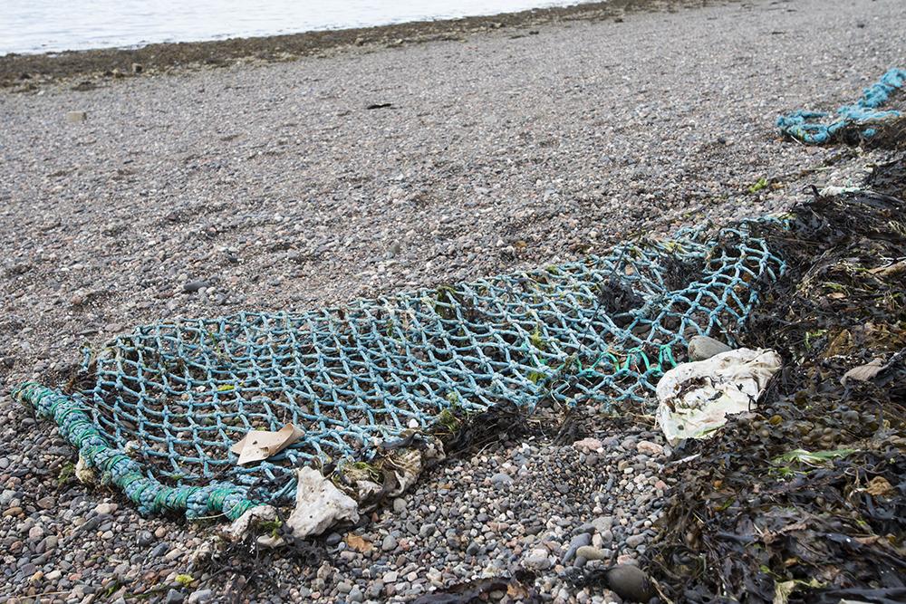 plastic pollution, beach