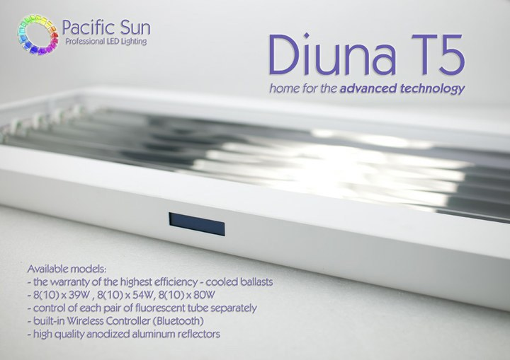 Pacific Sun Diuna T5 lighting system