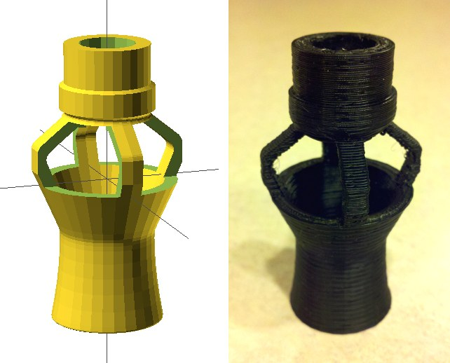 Print custom powerhead nozzles with a 3D printer